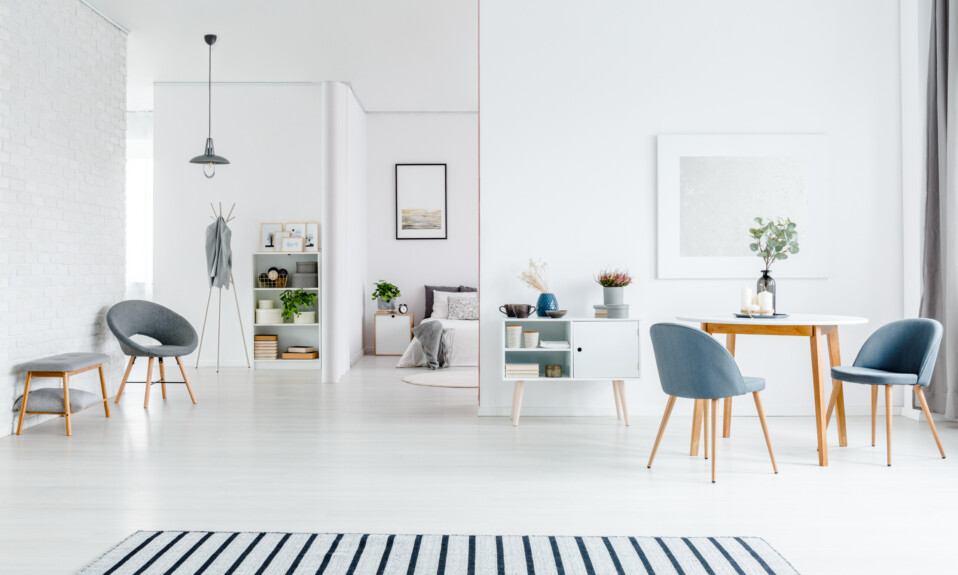 monochromatic living room design