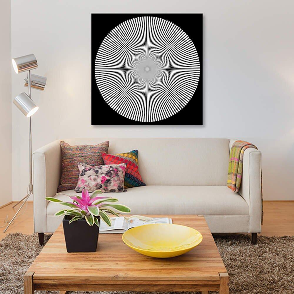optical print wall art