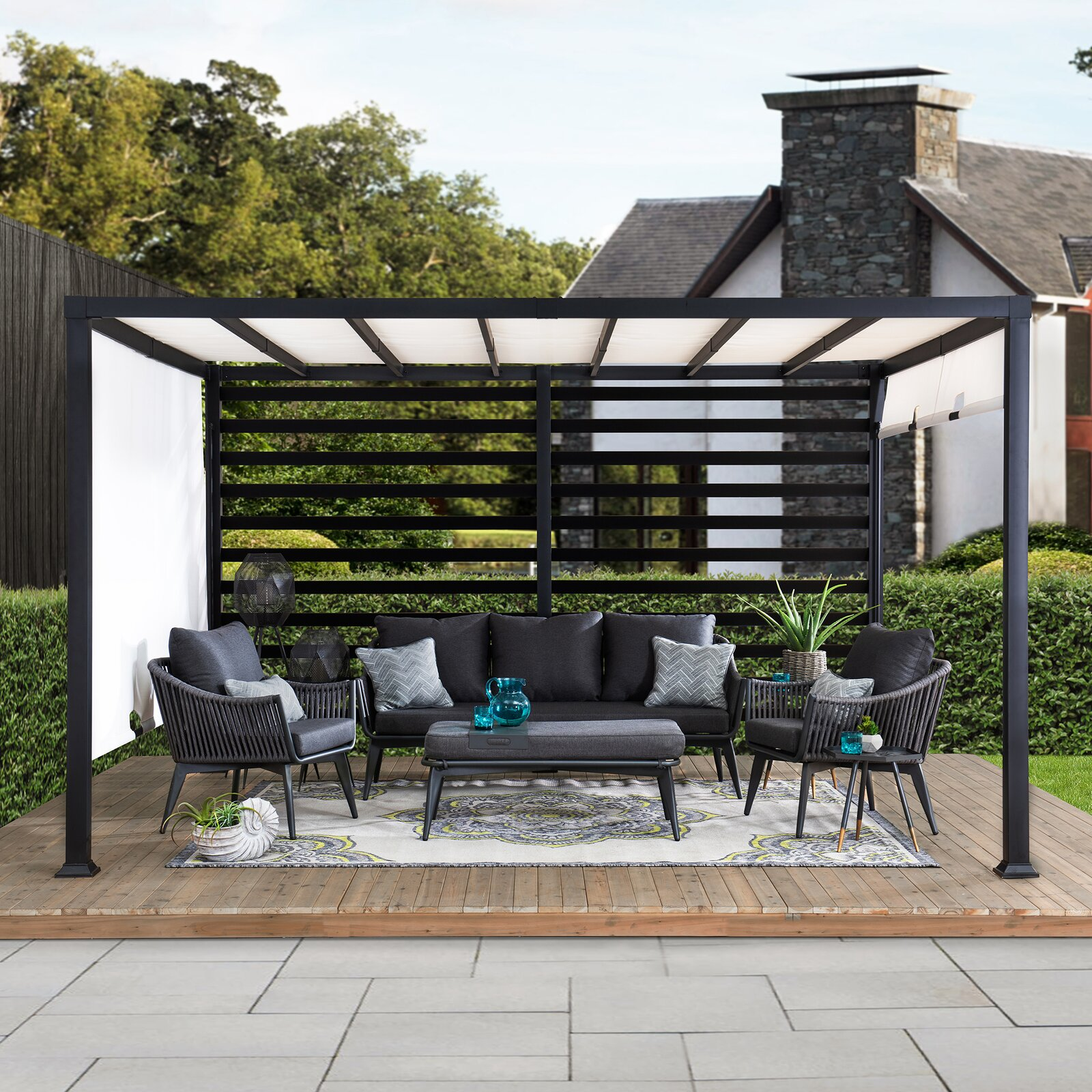 outdoor deck pergola