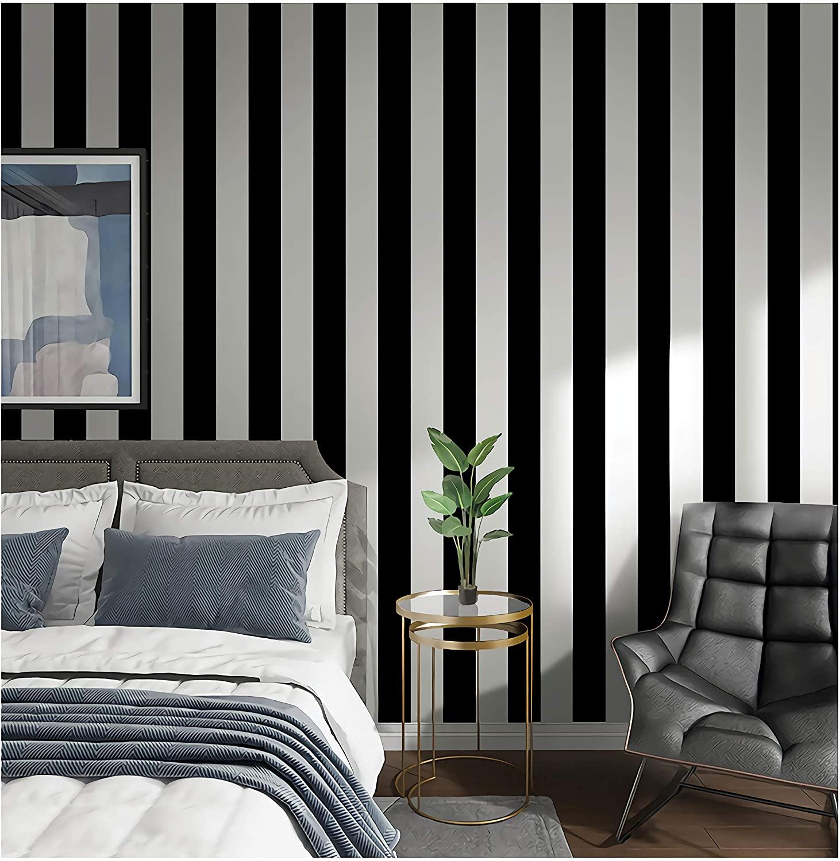 oversized stripes wallapaper