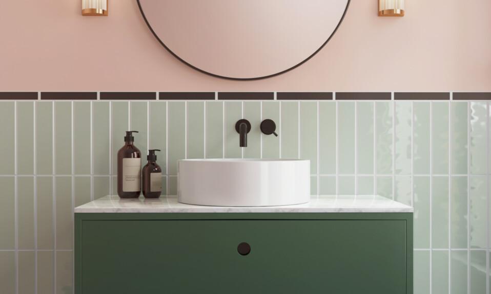pastel tiles bathroom