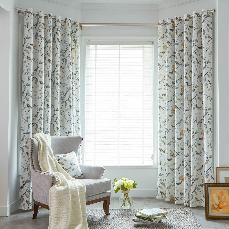 printed drapes idea