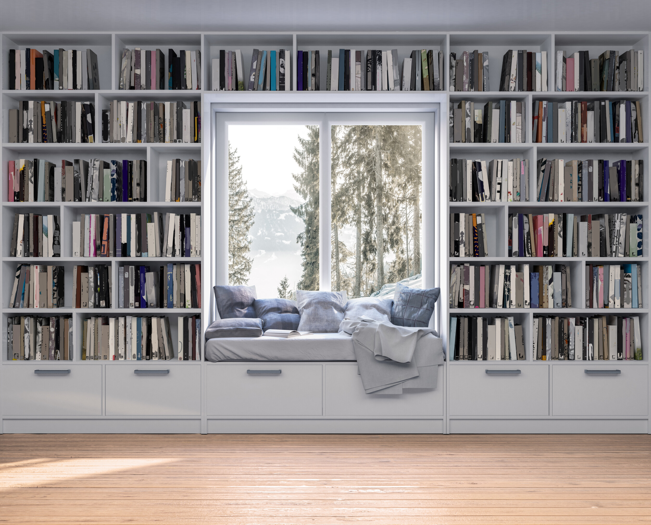 reading nook in home library
