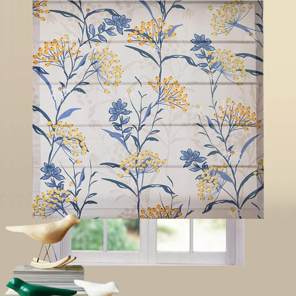 roman blinds floral