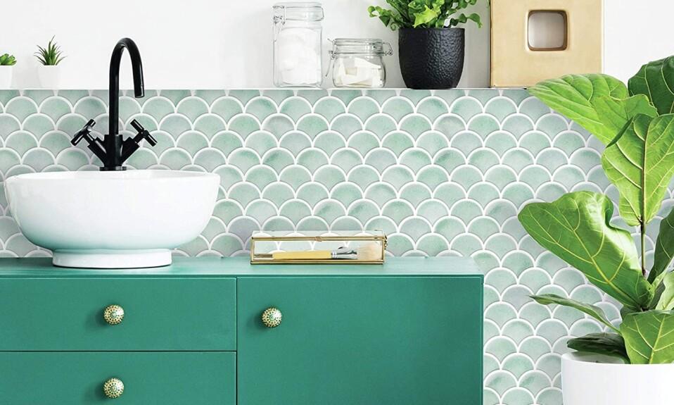 scallop tiles bathroom