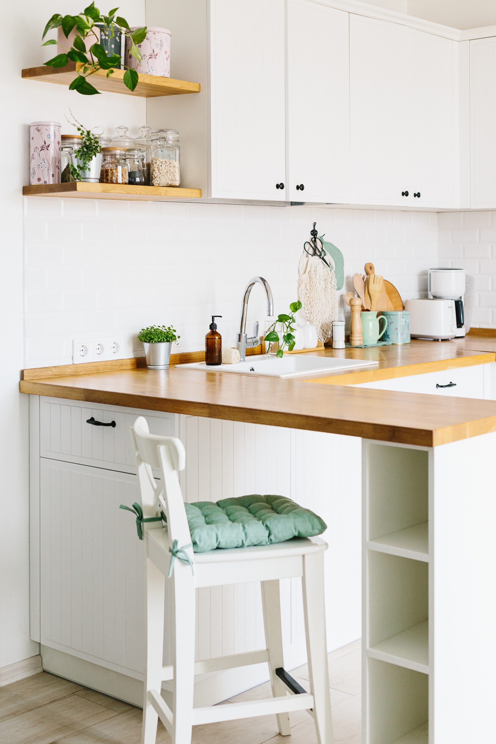 small kitchen shelves
