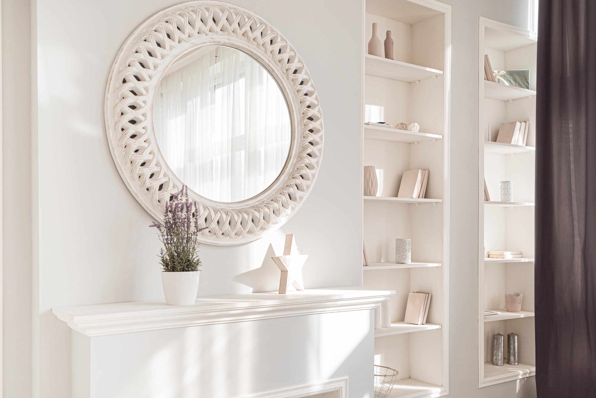small living room mirror