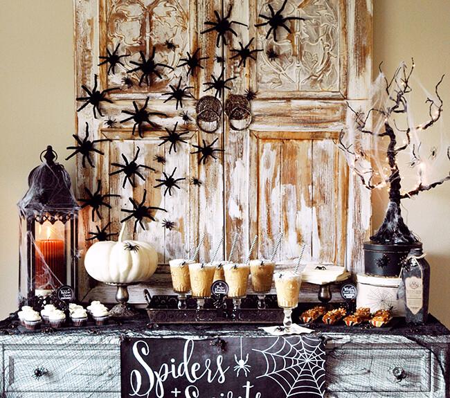 spider webs halloween decoration