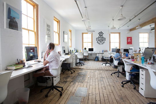 startup office open space