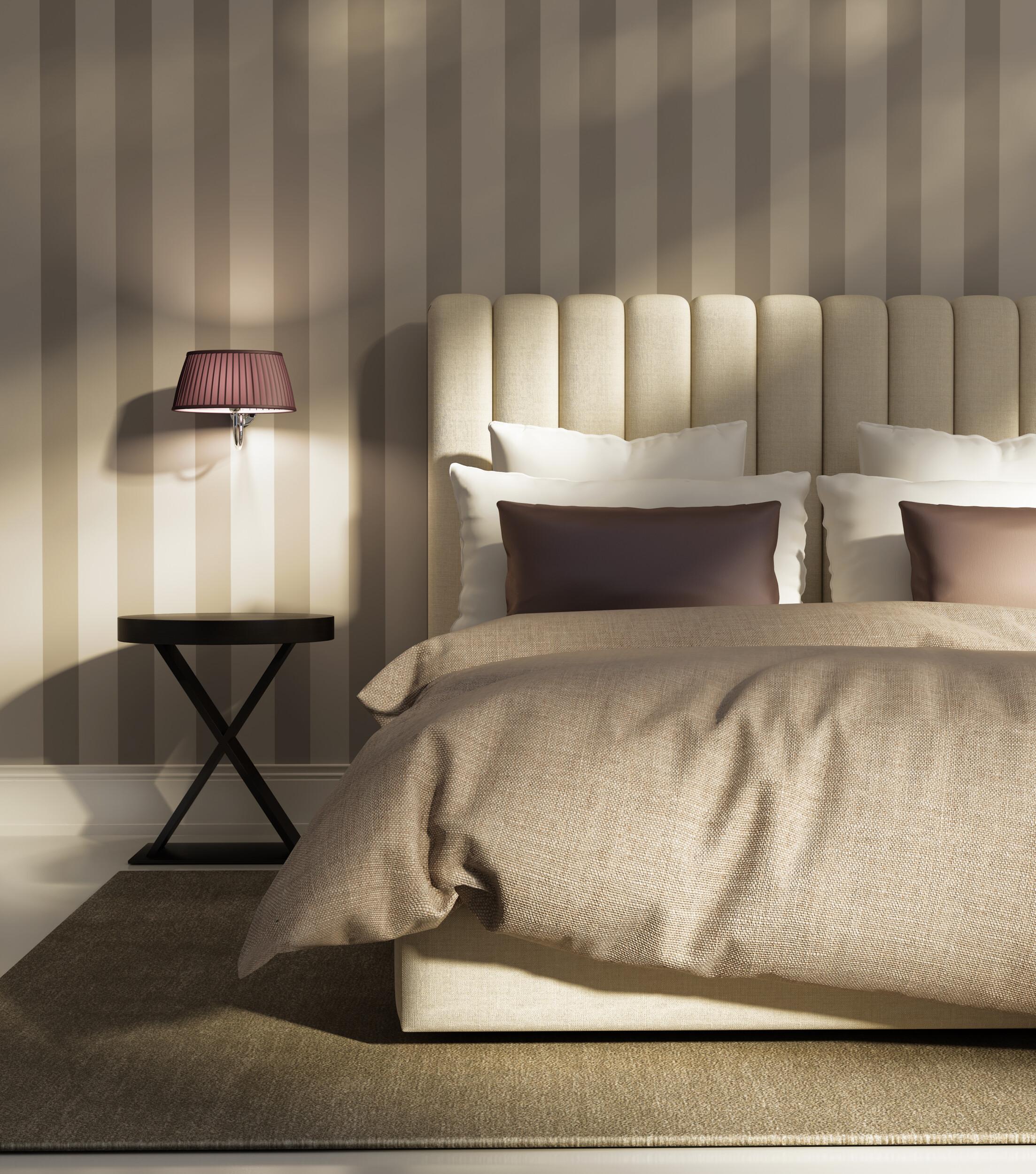 striped bedroom wallpaper