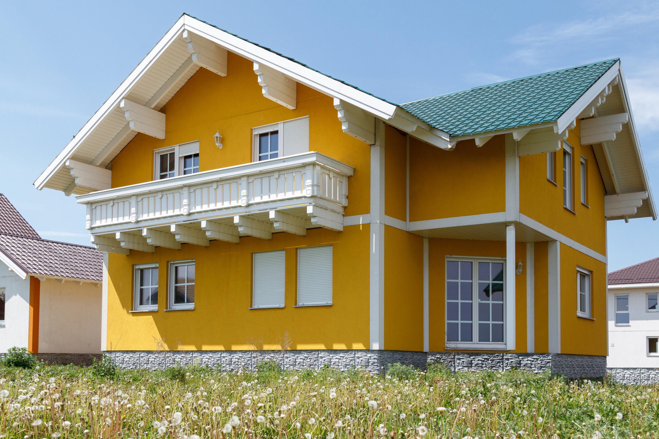 sunny yellow house exterior