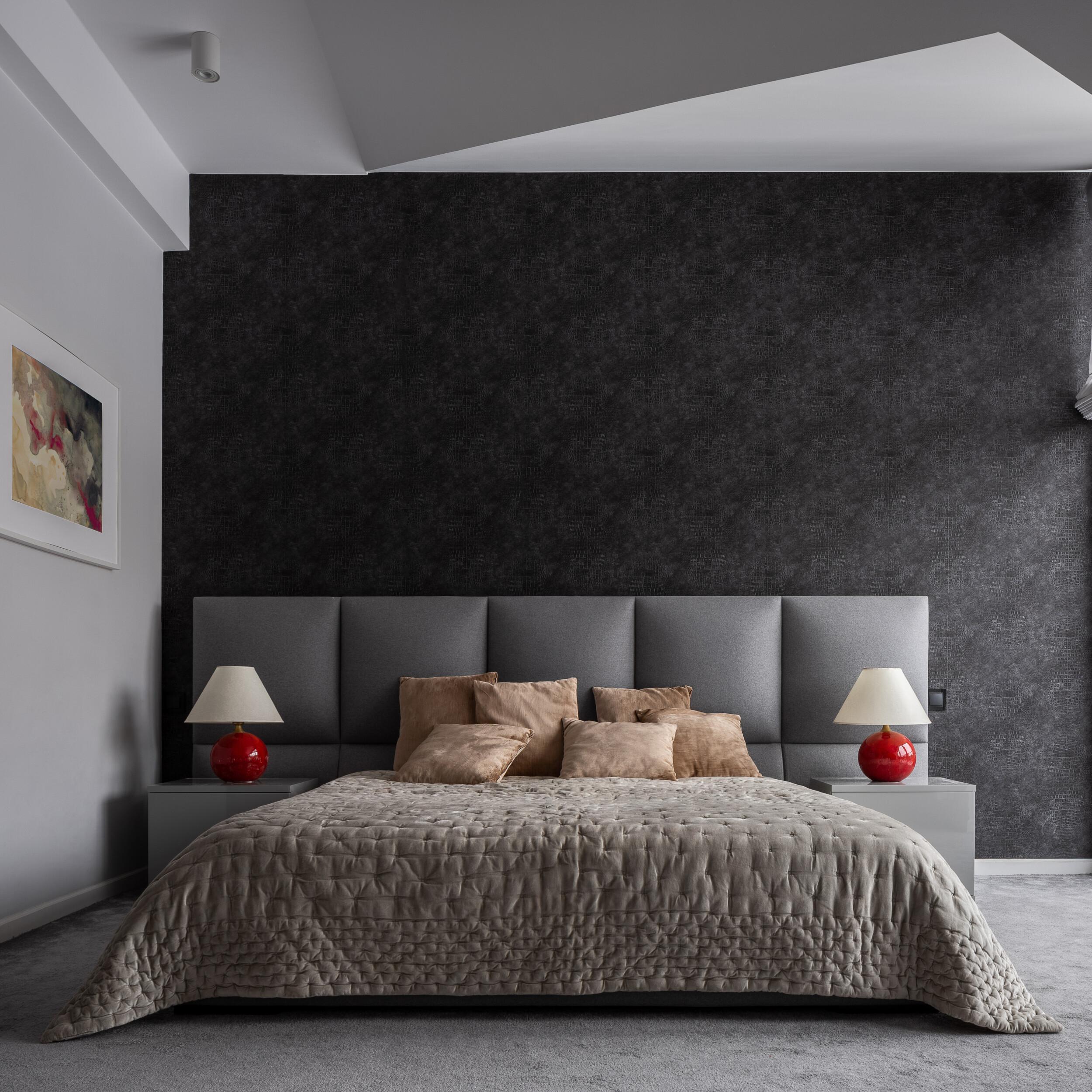 textured bedroom wallpaper
