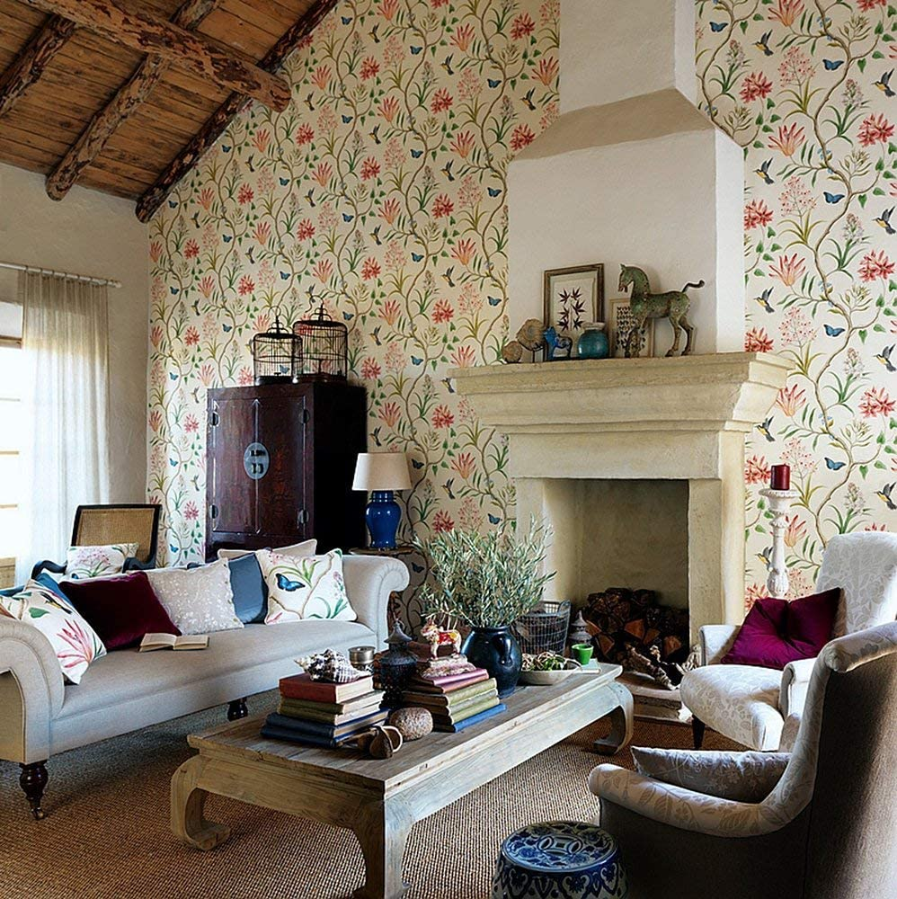 traditional toile wallpaper