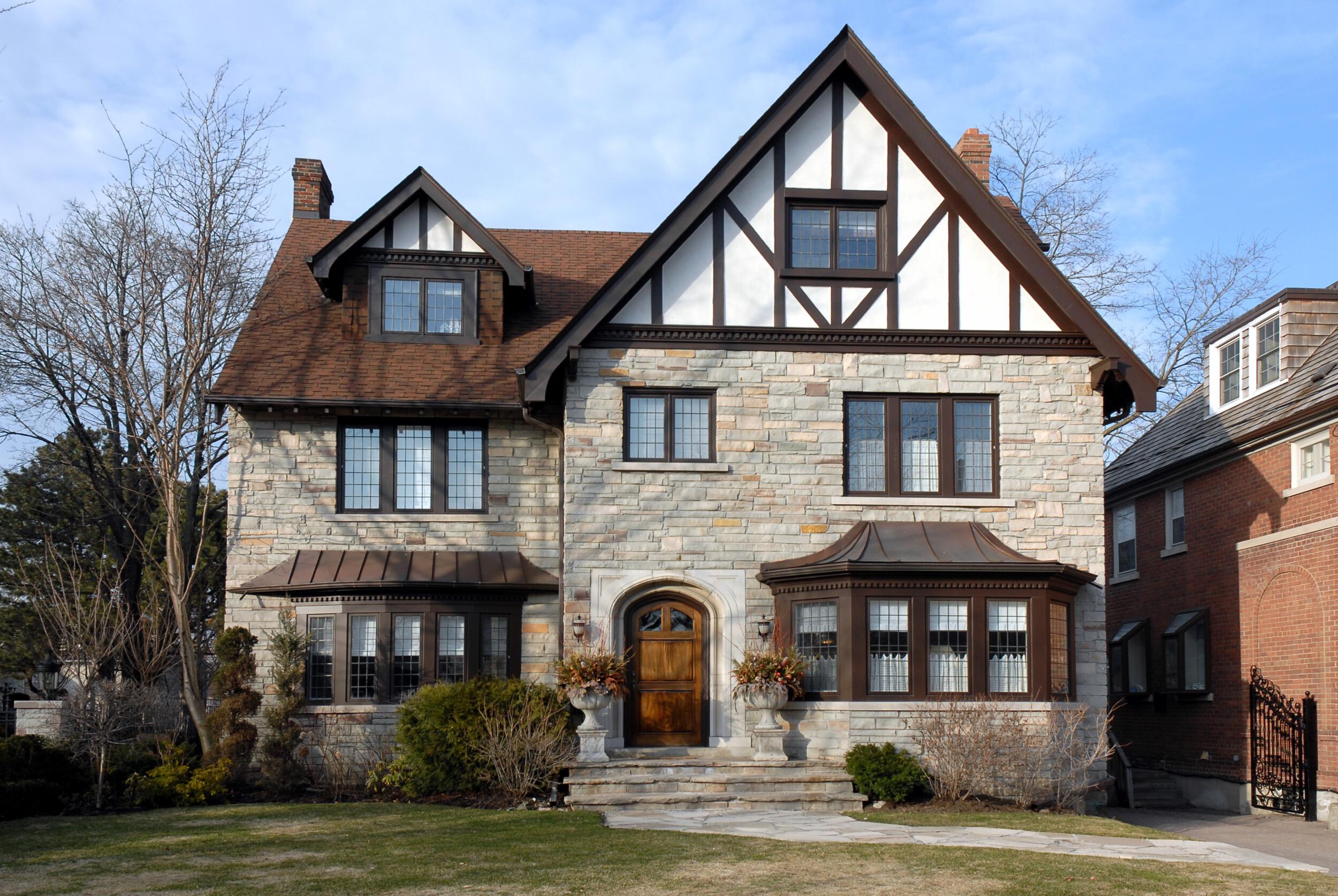 traditional tudor style house
