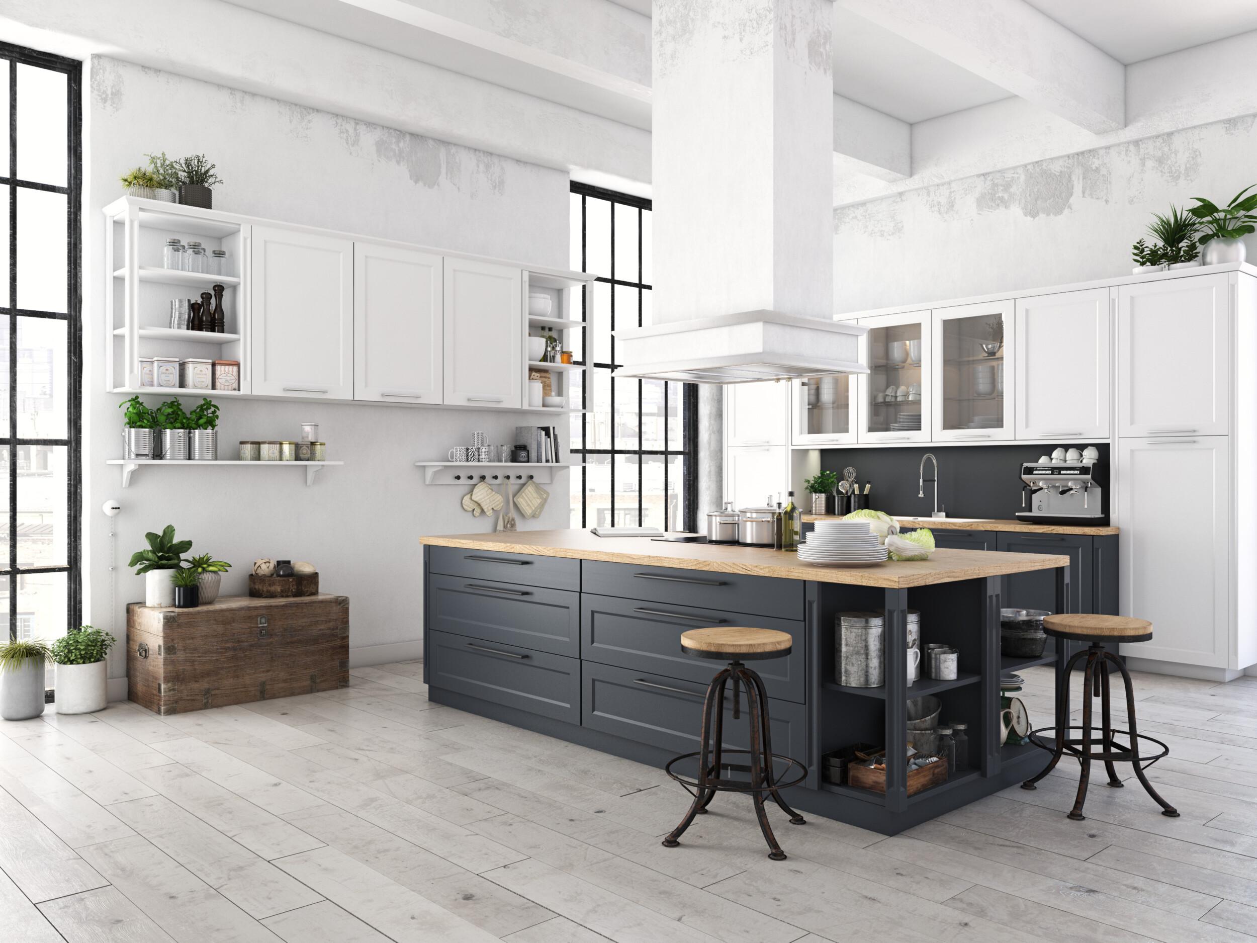 urban modern kitchen interior