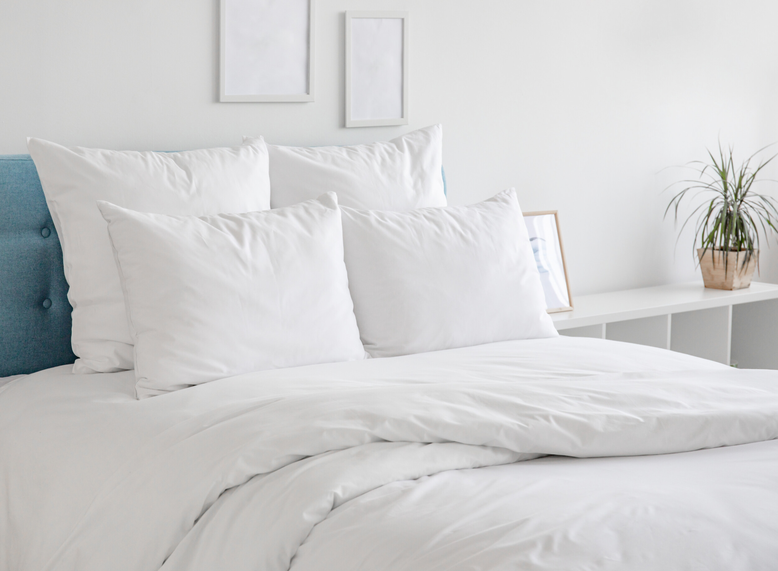 white bedding idea