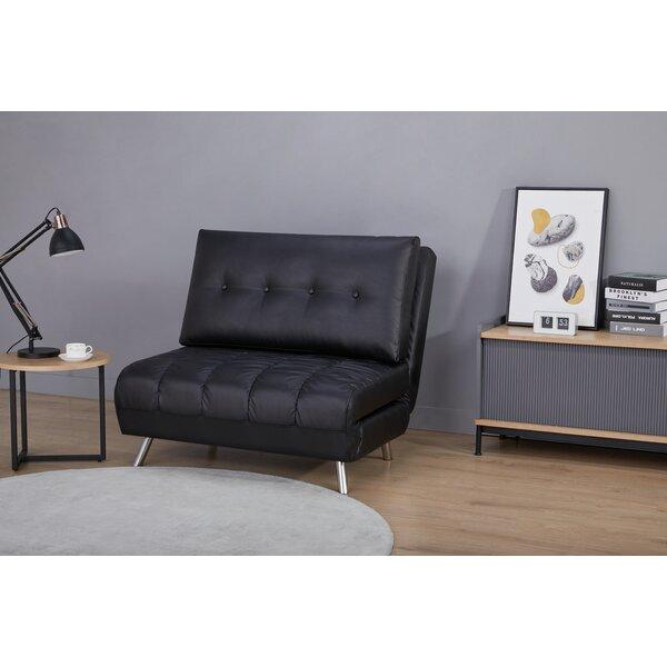 Black Leather Oversized Sleeper Chair