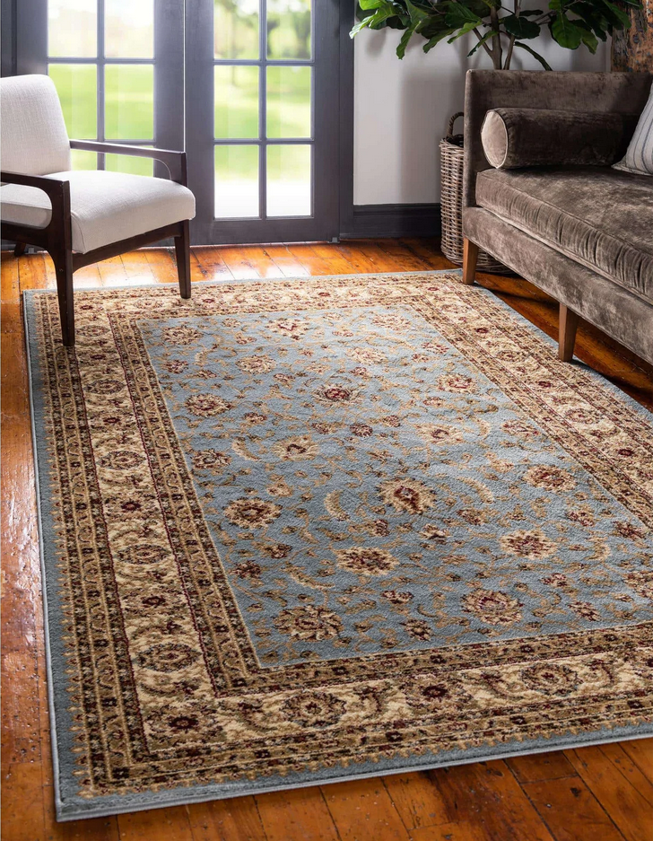 Blue Antique Style Area Rug