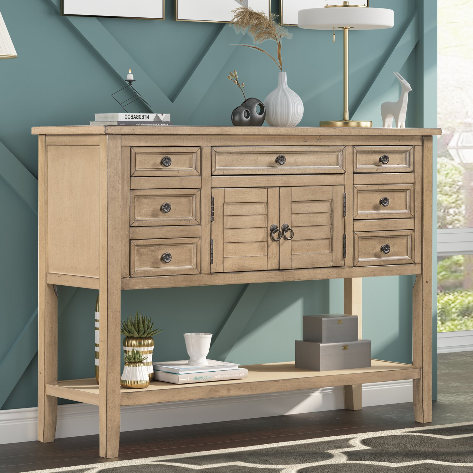 Console With Multiple Drawers for Extra Storage