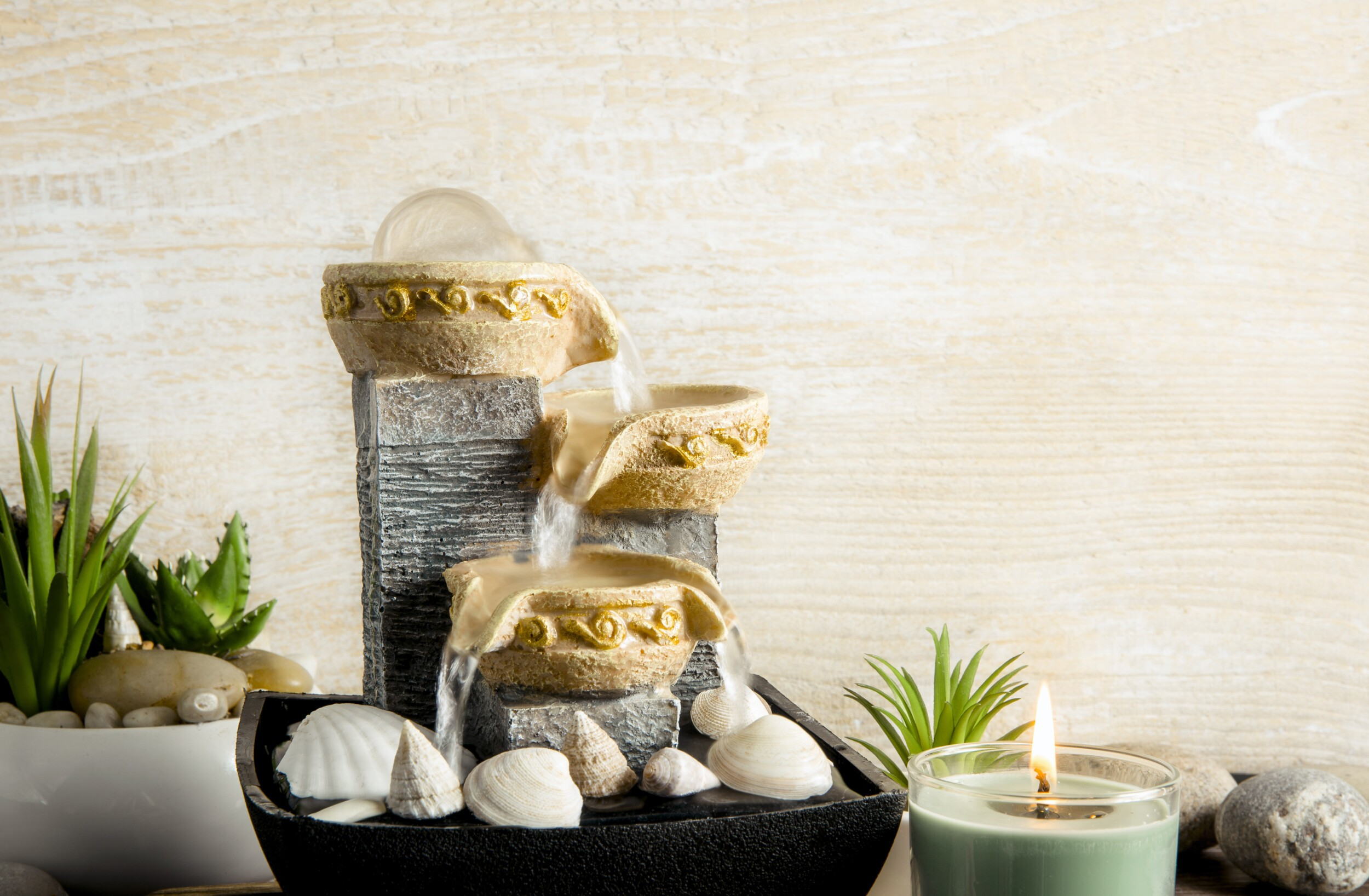 Portable indoor fountain for good Feng Shui