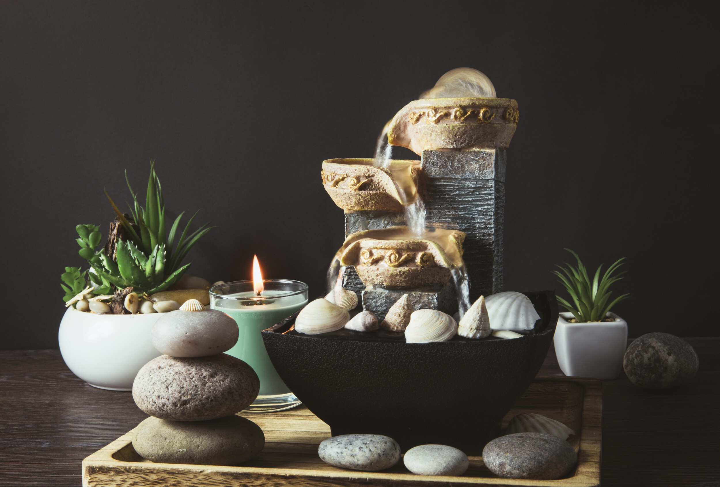 Portable indoor fountain for good Feng Shui in Your Home