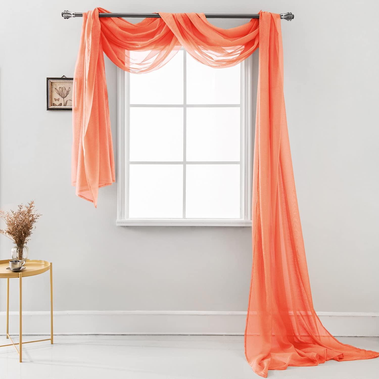 long scarf curtain