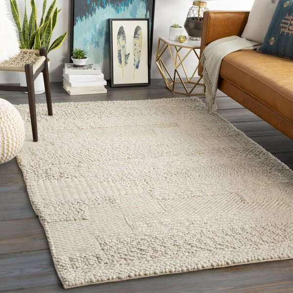 texture with a chunky wool rug