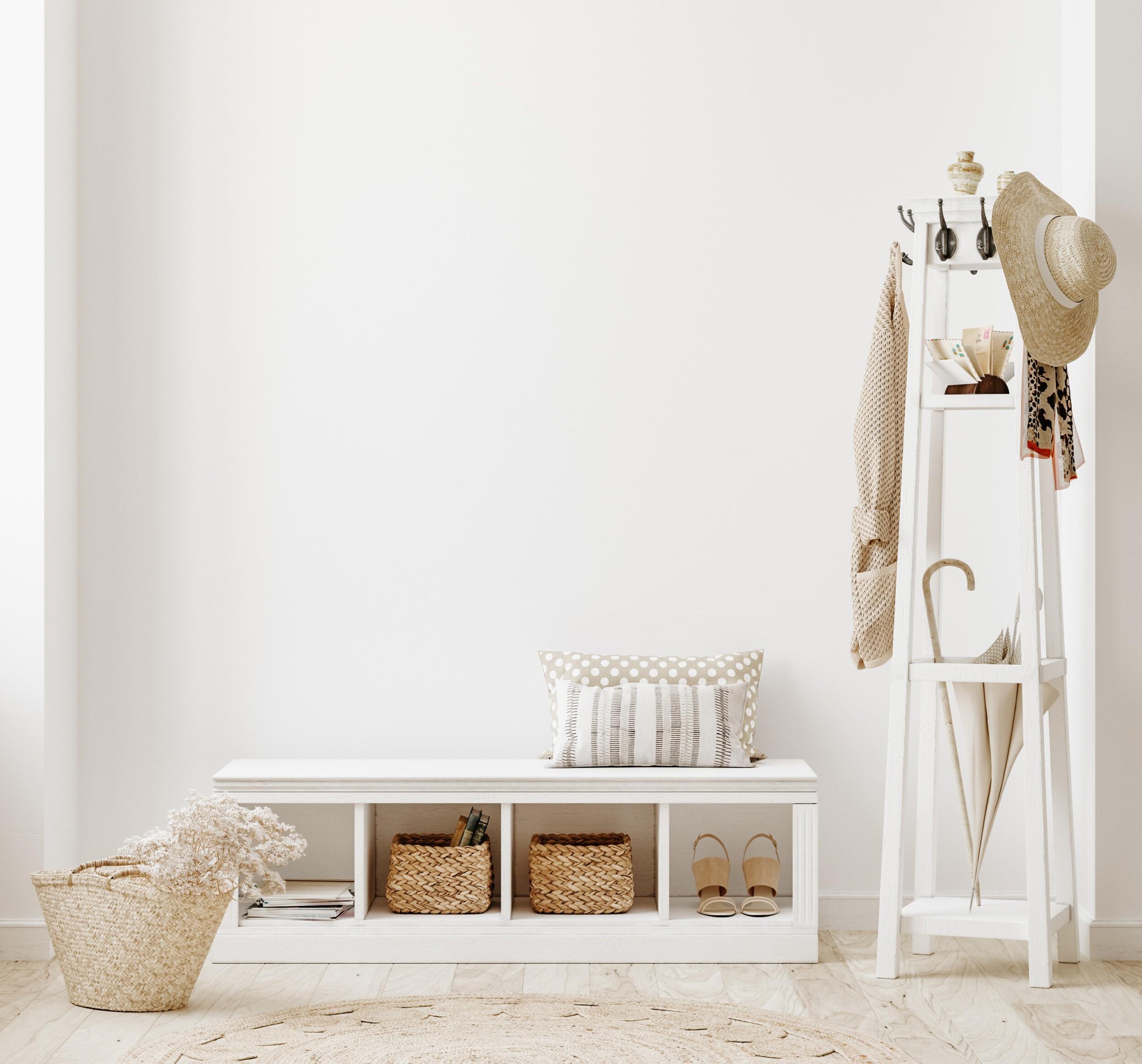 white clear hallway interior