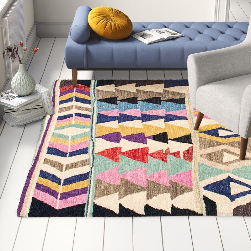 boho vibe patterned rug