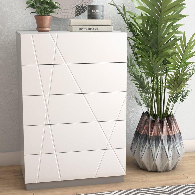 contemporary geometric design dresser