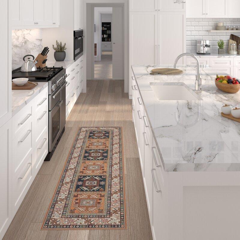 orange oriental kitchen rug