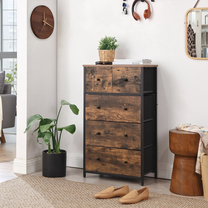 wood and metal modern dresser
