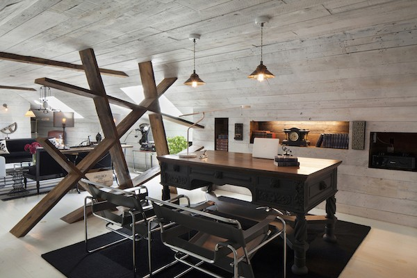 reclaimed wood home office