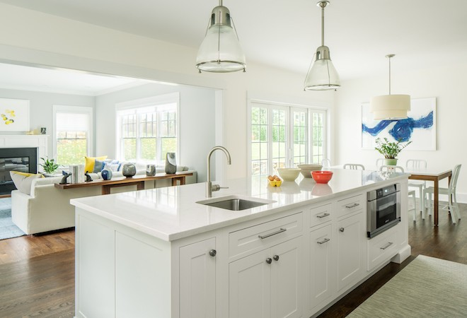 all white kitchen island - Inspiring Kitchen