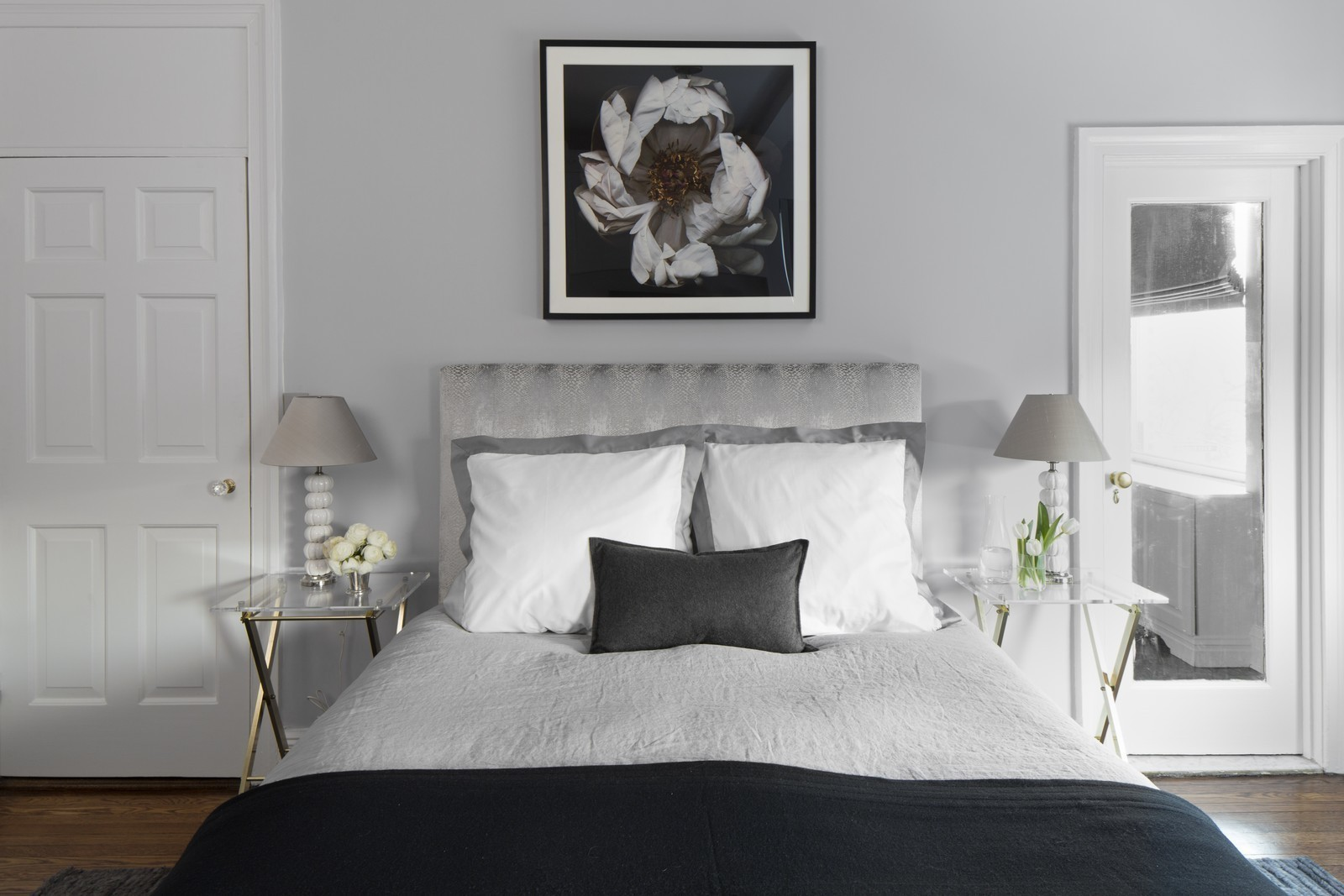 serene gray bedroom design